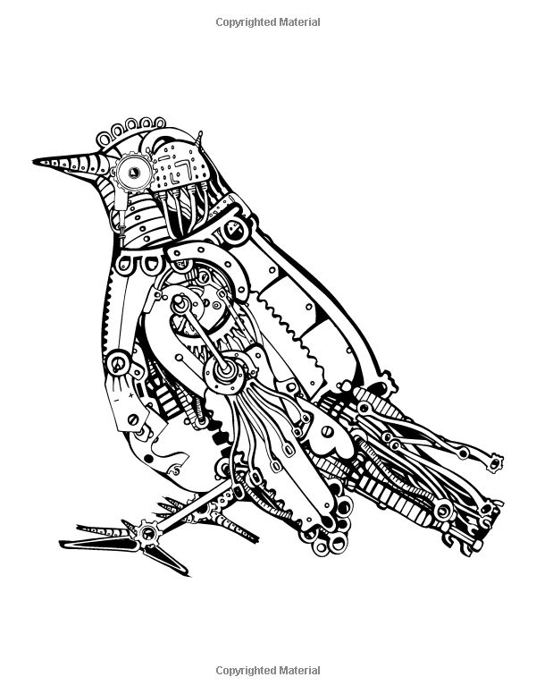 victorian steampunk coloring pages - photo#25