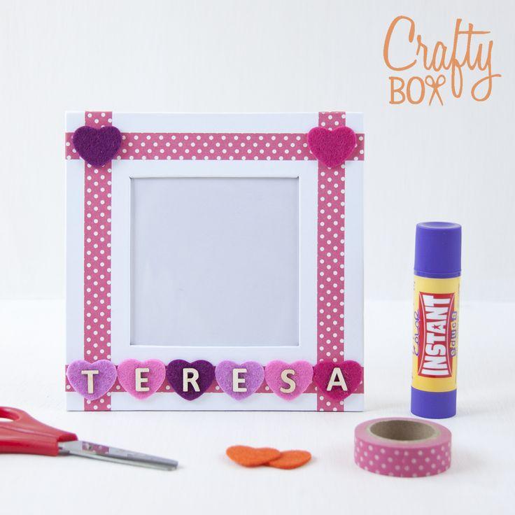 Crafty Box Kids: Manualidades para niños. Marco de fotos personalizable.