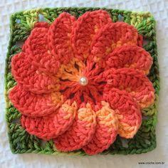 FLOR MEXIRICA - Passo a passo -->> http://www.croche.com.br/flor-mexirica-passo-a-passo/