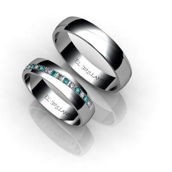 Argollas de matrimonio Diamante Azul