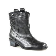 Camden Black soft Heeled Boots by ShooBiz Online   ShoeSales
