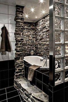 Cegła w łazience daje niesamowity efekt!