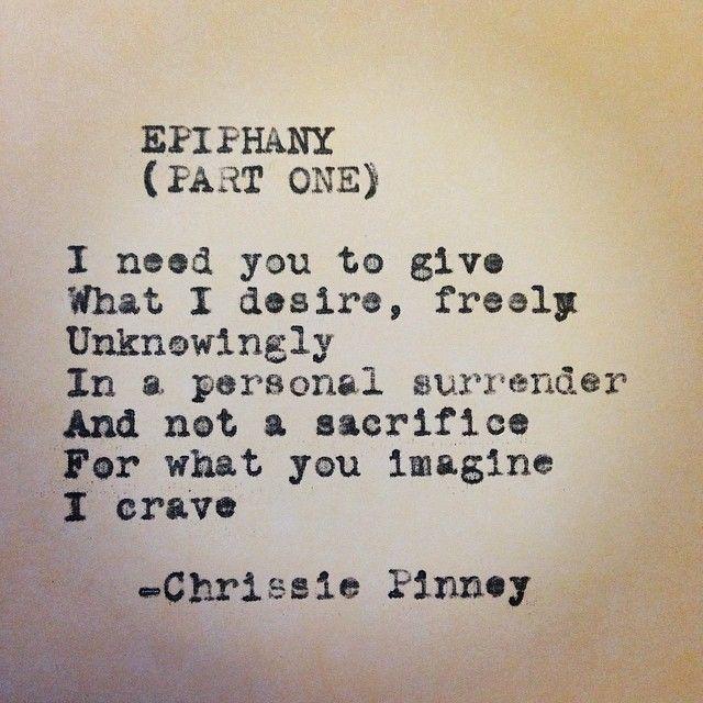 Chrissie Pinney Epiphany, Part One. Rebuild series no. 46