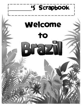 Take your students to Brazil! This scrapbook allows your students capture their experiences. Great way to enhance your lessons! Best seller!