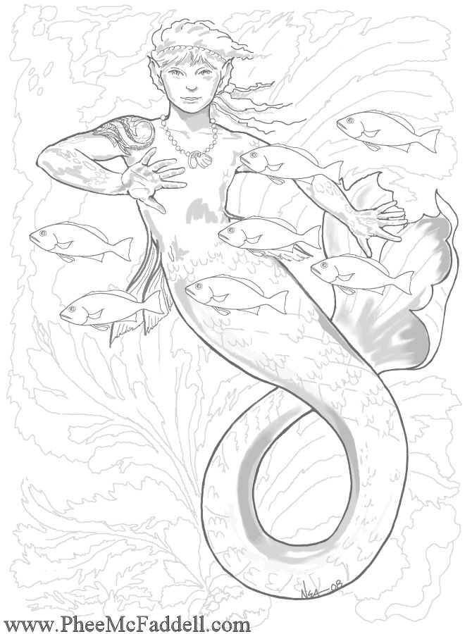 fairy and mermaid coloring pages - 447 best images about mermaids to color on pinterest