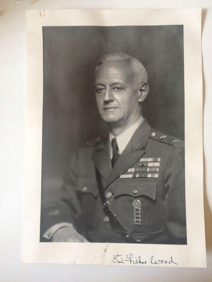 Brigadier General Eric Fisher Wood Large Portrait Photo American Legion WWI WWII