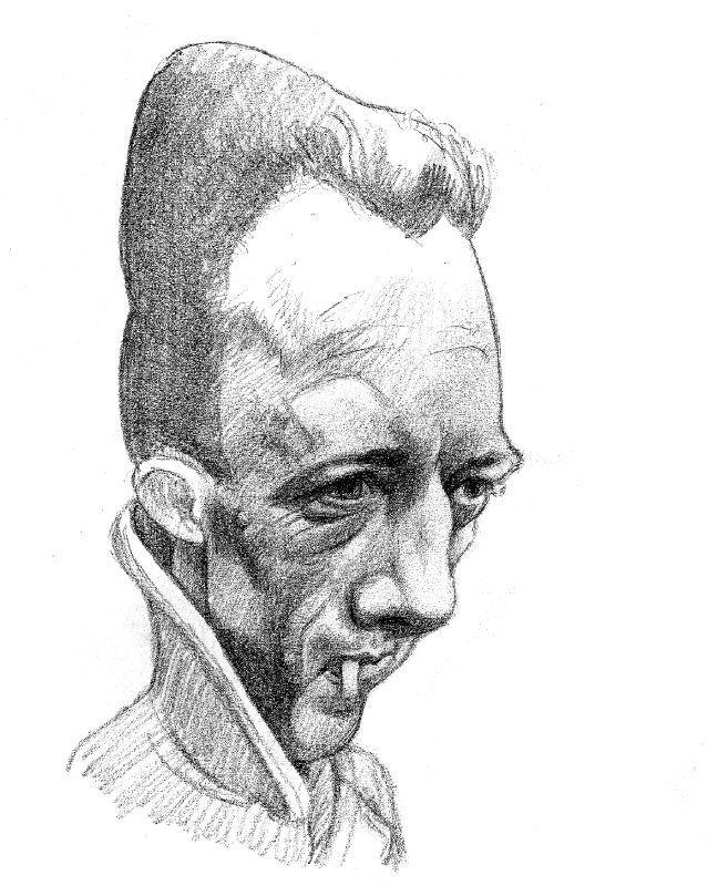 French writer Literature, Albert Camu caricature by ~oilbigbrozer on deviantART