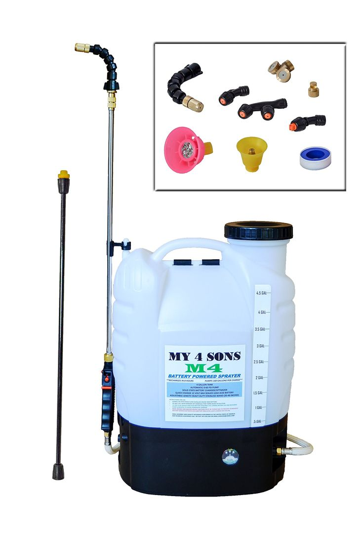4 Gallon Battery Ed Backpack Sprayer Wide Mouth With Steel Wand And Br Nozzle