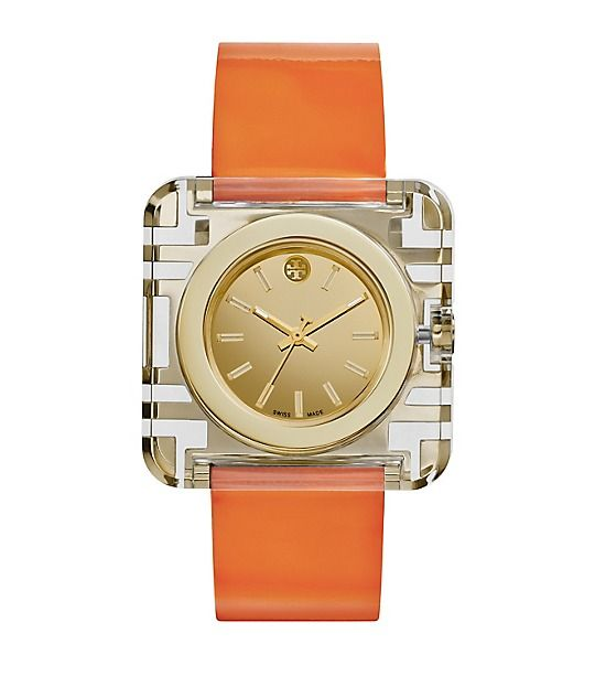 Orange Patent/Gold, 36 x 36 mm