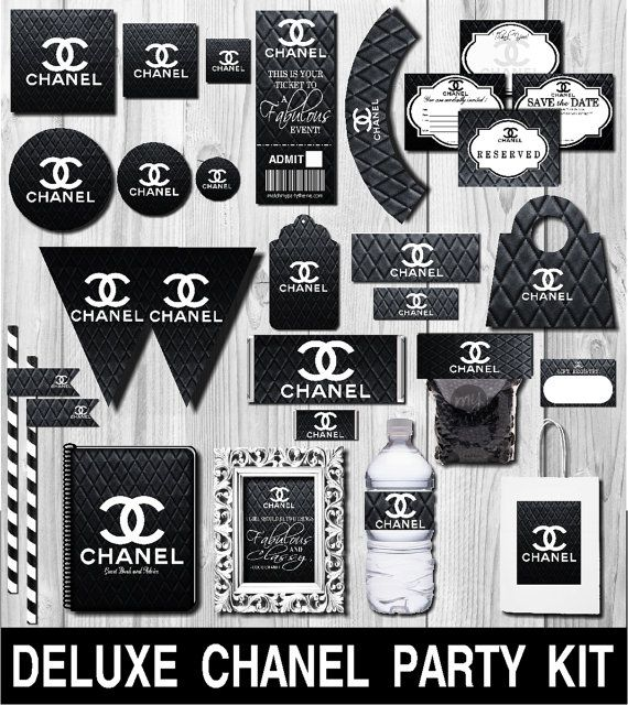 Deluxe Chanel Party Kit  Chanel Party Favors  by PlatinumGraphics                                                                                                                                                                                 More