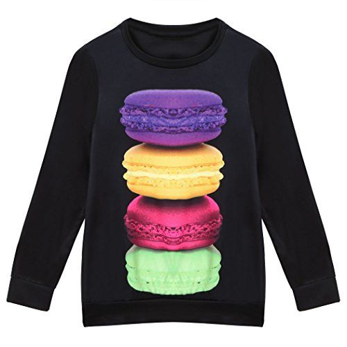 #ZEARO #Damen #Sweatshirt #Macaron #Druck #Pulli #Jumper #Tops #Sweatshirt #KapuzenT #Shirt #Bluse #S ZEARO Damen Sweatshirt Macaron Druck Pulli Jumper Tops Sweatshirt KapuzenT-Shirt Bluse S, , S, M, L, XL Größe für auswählen. Lesen Sie Größe Information.Details bitte auf die Produktbeschreibung., 100% neu. Mode Damen cartoon Hemd mit 3D aufdruck., Style:Hip-hop,Preppy,Straße,Laufen, Sehr verfuehrerisch und angenehm zu tragen,nett und reizend, ein perfektes Geschenk fuer sich., Geeignet…