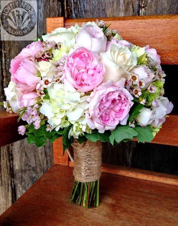 bouquet of david austins and roses, created by lovely bridal blooms