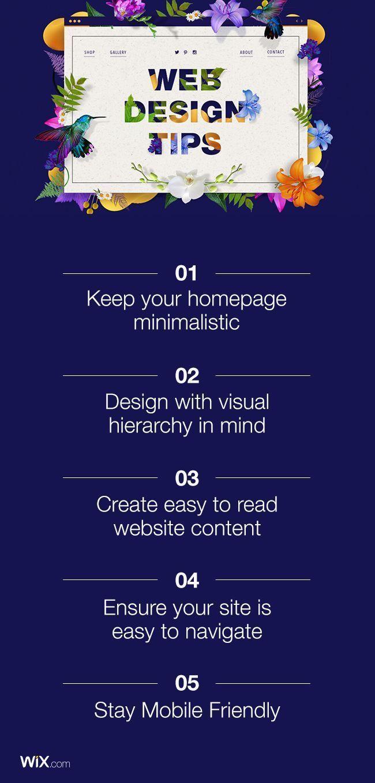 5 Crucial Web Design Tips For A Professional Site Wix Website Ideas Diy Your Wix Create Website With Wi Web Design Tips Web Design Web Development Design