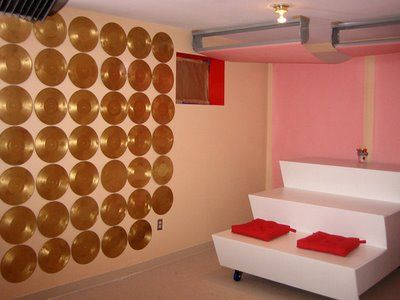 Resultado de imagem para decoração de parede com disco de vinil