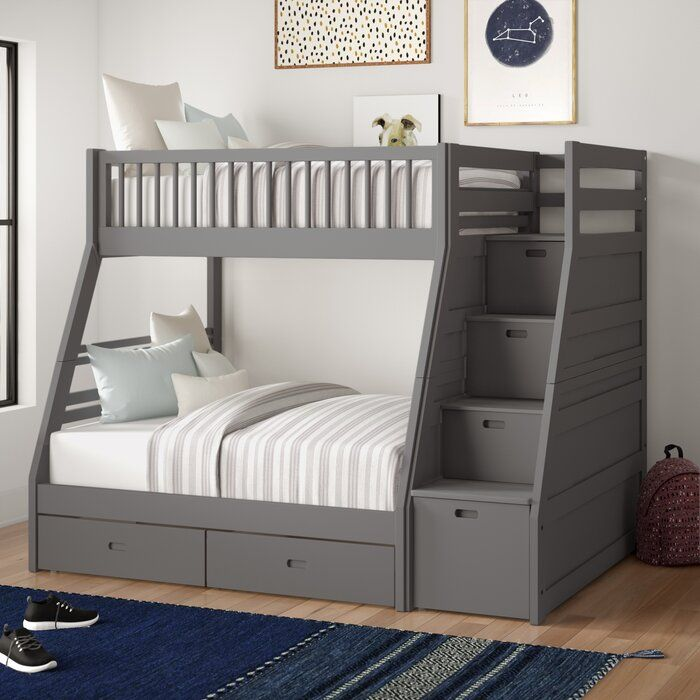 Harriet Bee Mimi Twin Over Full Bunk Bed With Drawers Reviews Wayfair Bunk Beds With Drawers Bed With Drawers Twin Over Full Bunk Bed Twin over full bunk beds for sale