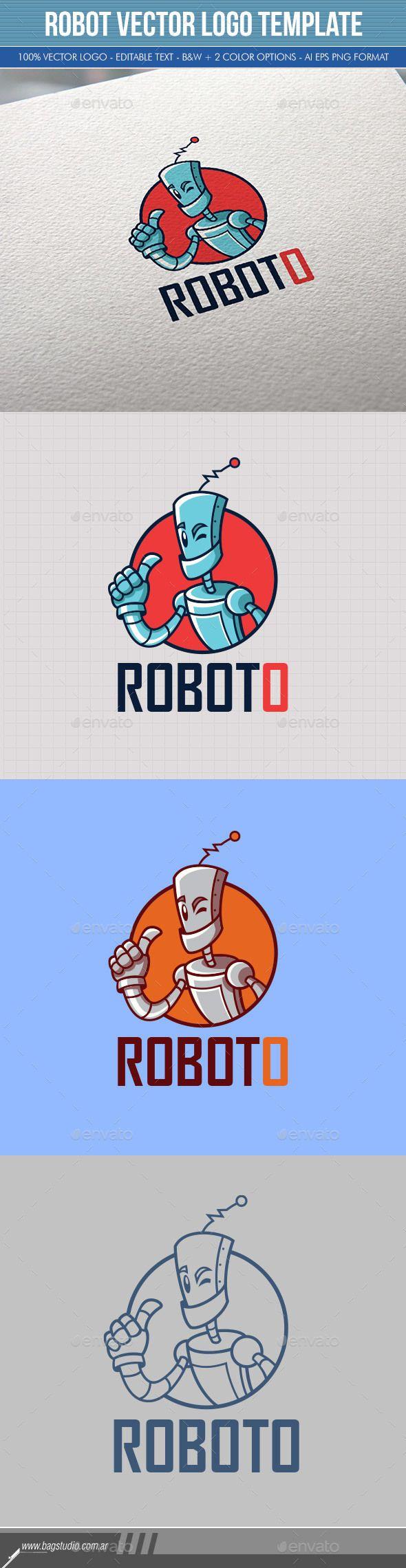 Robot Vector Logo Template