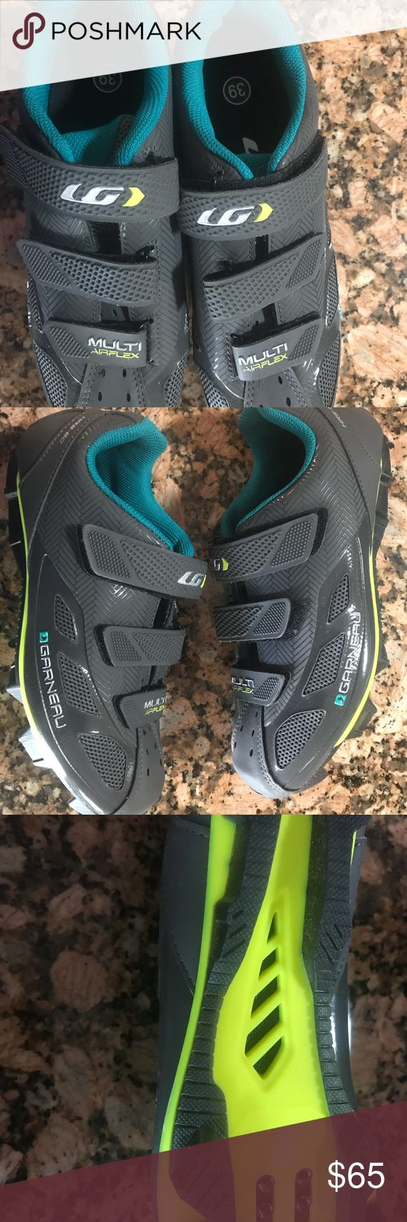 Louis Garneau Women Cycling Shoes Worn only once for an indoor class, shows a little wear on bottom due to removal of cleat. Other than that they are in perfect condition. Louis Garneau Shoes Sneakers