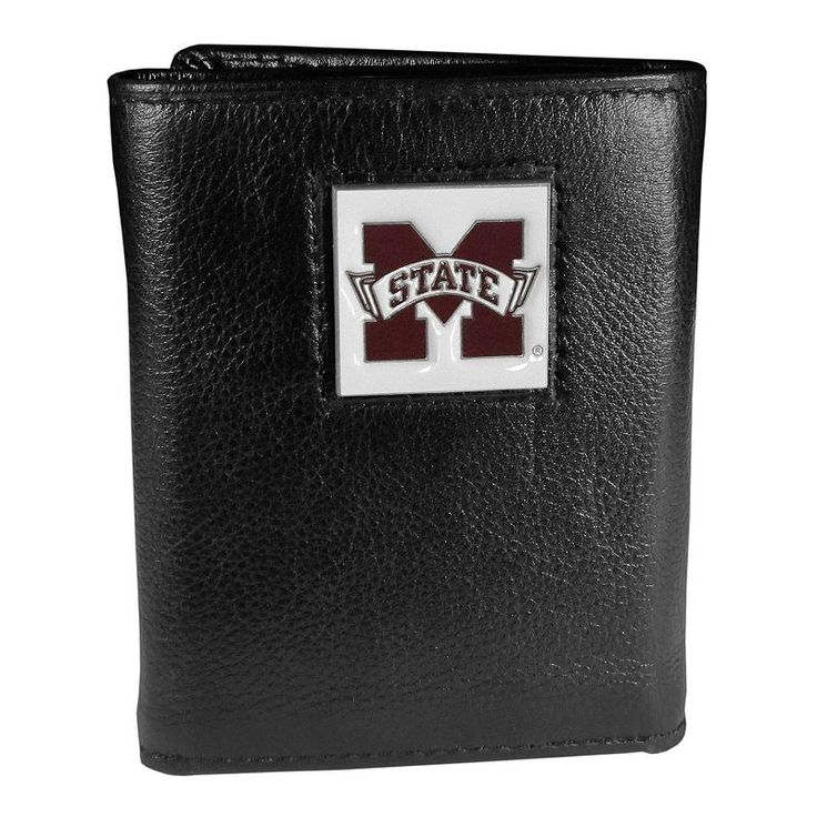Mississippi State Bulldogs Trifold Wallet, Black