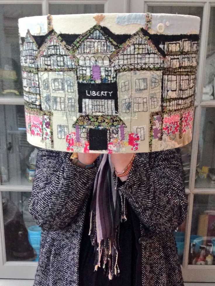 liberty open call best of british 2014, hand stitched lampshade of Liberty of London. www.marnalunt.co.uk