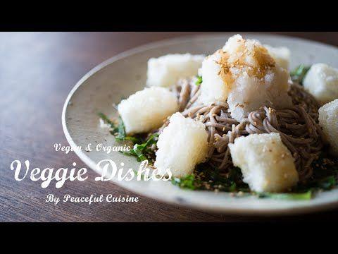 夏だけのお楽しみ!冷し揚げ餅そばの作り方:How to make soba noodles with deep fried mochi | Veggie Dishes - YouTube