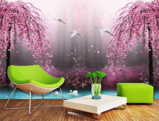 les 27 meilleures images du tableau papier peint fantaisie sur pinterest tapisserie sur. Black Bedroom Furniture Sets. Home Design Ideas
