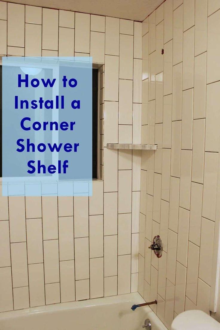 How to Make a Subway Tile Shower Shower shelves, Shower