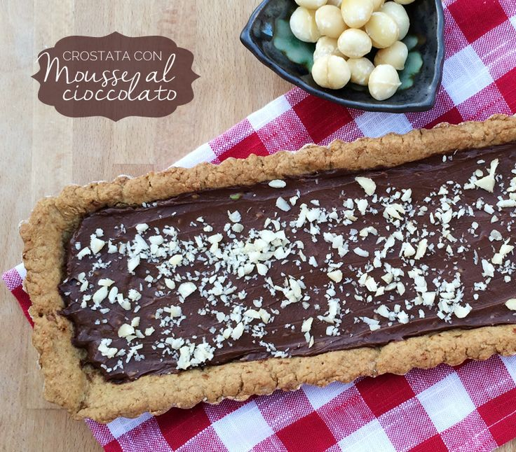 crostata vegan con mousse al cioccolato