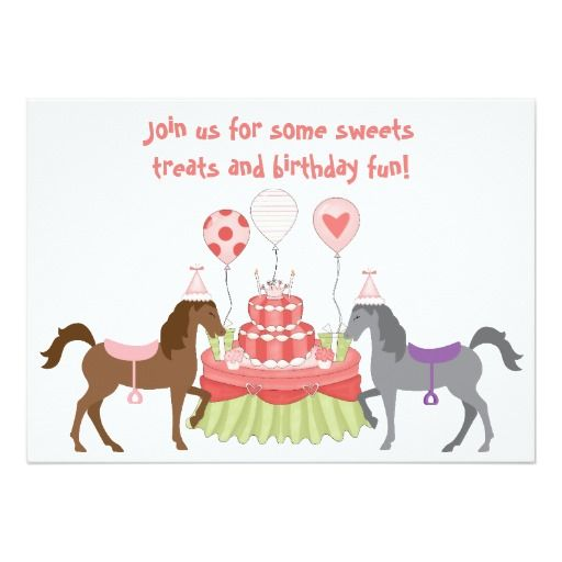 356 Best Images About Horse Birthday Party Invitations On