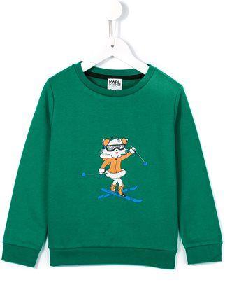 Karl Lagerfeld Kids skiing Choupette sweatshirt
