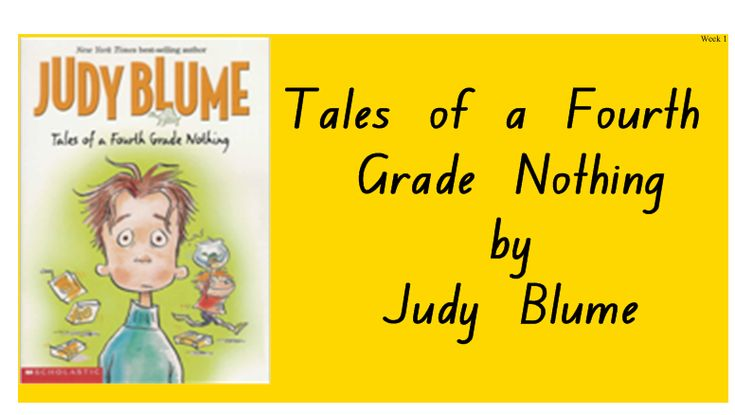 Year 3-4 Tales of a Fourth Grade Nothing shared reading unit Smartboard pages | Teach In a Box