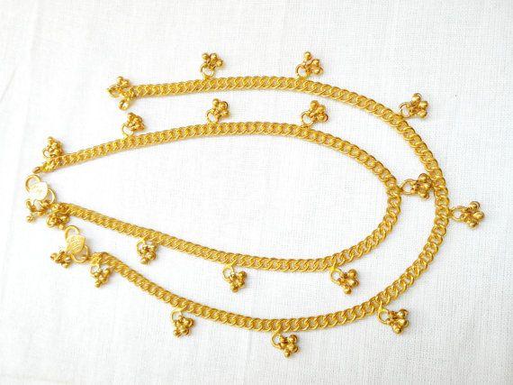 Gold Anklet  Indian brass anklet