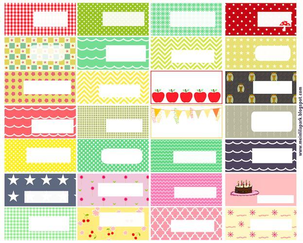 Free printable pattern tags and labels ausdruckbare for Locker tag templates