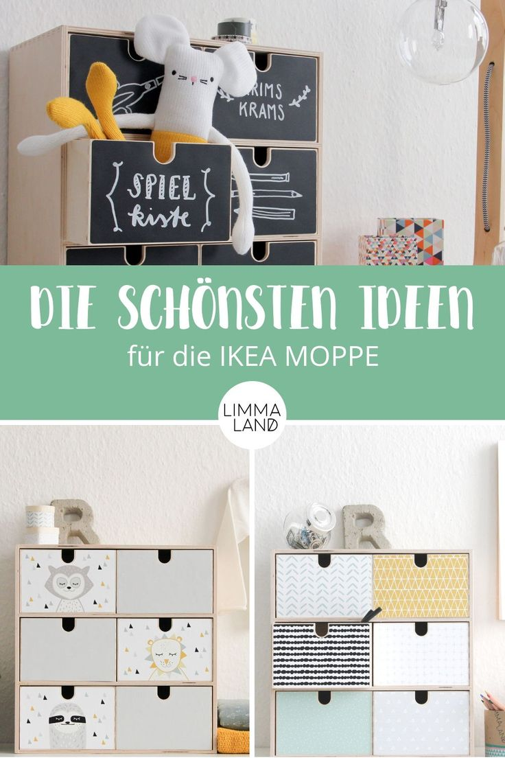 Die schönsten Ideen für die IKEA MOPPE. Kennt ihr die Mini-Kommode von IKEA? Sie ist sehr praktisch im Kinderzimmer oder auf dem Schreibtisch zuhaus…
