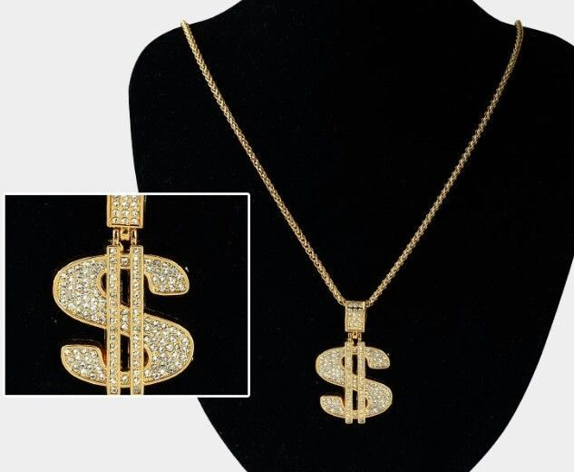 $19.99...18k Gold plated Necklace Chain & pendant Designer Hip Hop fashion jewelery new A #A1 #Chain