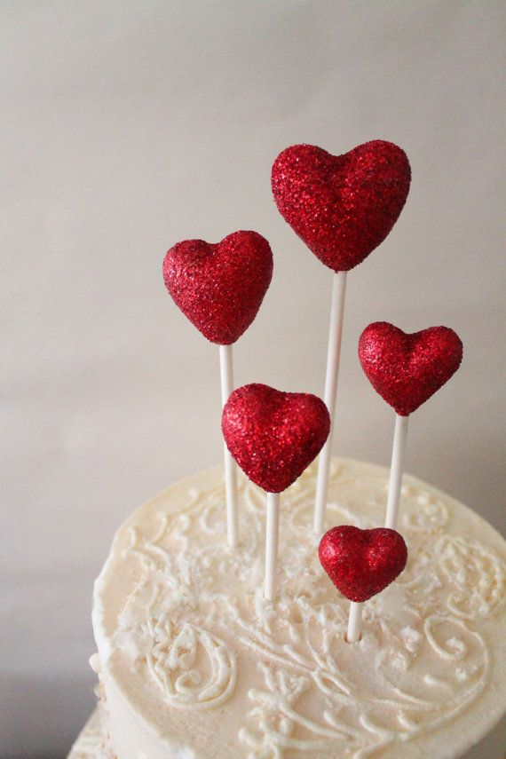 Diy glittering heart dessert toppers www handmadeweddings co uk diy