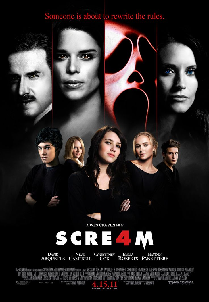 Scream 4 2011 Dir Wes Craven Neve Campbell Lucy Hale David Arquette Movies Tv Series Online Streaming Movies
