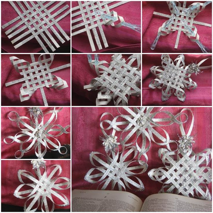 The Perfect DIY Woven Paper Star Snowflake Ornaments - The Perfect DIY