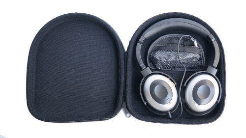 Headphone carry hard case for AKG K518 K518DJ K81 K520 JBL TMG81W TMG81B ON-EAR J03B J03S BOSE Quiet Comfort QC2 QC3 QC15 AE2W AE2 OE2i OE2 Around Ear SONY MDRZX100 MDRZX300 MDRZX600 MDRV55 MDR ZX100 ZX300 ZX600 MDR V55 Philips SHB9000 Audio Technica ATH SJ1 ES55 EX3 ESW10 FW5 Grado SR60i SR80i M1 SR225 SR325 RA2 RS1 Bowers & Wilkins B & W P3 P5 B&O H6 or other large size headphones 225mm x 193mm x 55mm: Amazon.co.uk: Electronics