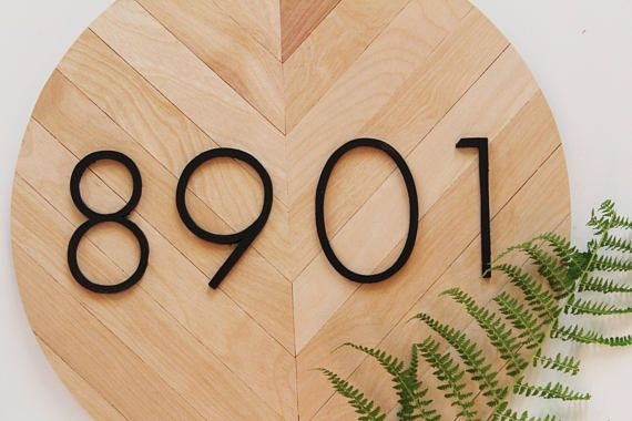 Modern House Numbers Modern House Number Plaque Modern House