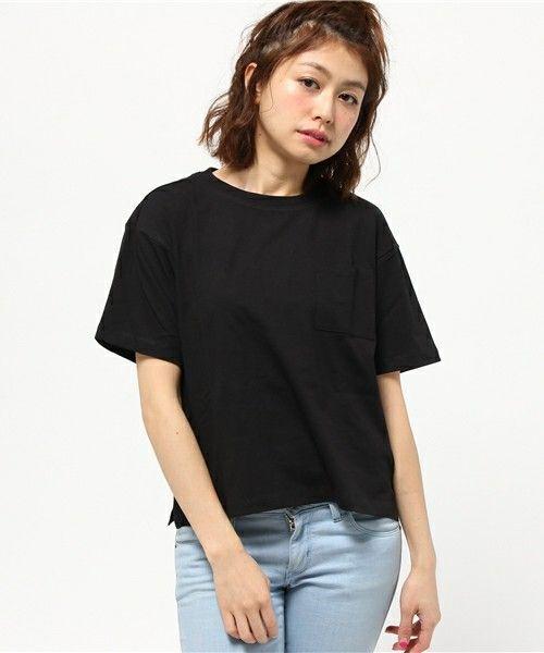 【セール】【2016Spring】ドロップショルダーポケットTシャツ(Tシャツ/カットソー)|earth music&ecology(アースミュージックアンドエコロジー)のファッション通販 - ZOZOTOWN