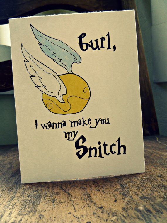 Hey Gurl Golden Snitch Harry Potter Love/Anniversary by EmsieArt, $4.00