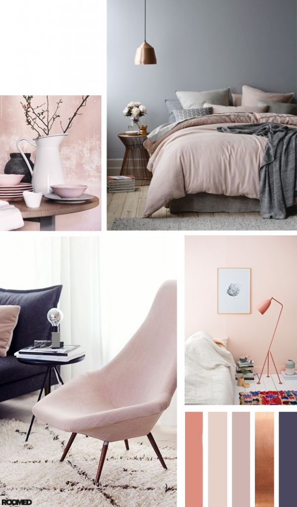 Colorboost: a color palette for your interior with powder pink and bronze - Roomed