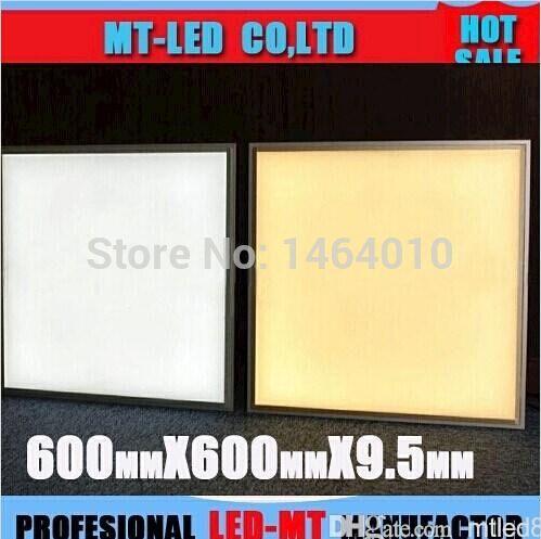 X10 светодиодная панель 40 Вт заменить 60 Вт 9.5 мм Ультра-тонкий Толщина 600 х 600 мм С Регулируемой Яркостью светодиодные Панели Высокая Яркость CE/RoHS Утвержденной