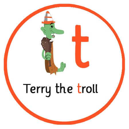 Lear the letter sound 'T' as in Terry the troll | Free Phonics App | Letters and Sounds | Key Stage 1 | Reception
