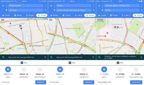 UBER poate fi acum comandat direct din Google Maps si in Romania