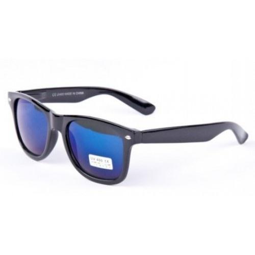 Okuliare Wayfarer - čierne BLUE