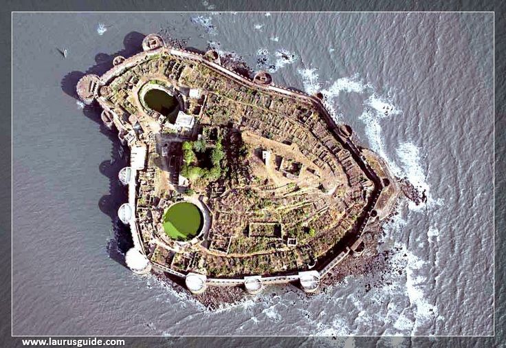 Aerial view of the Janjira Fort