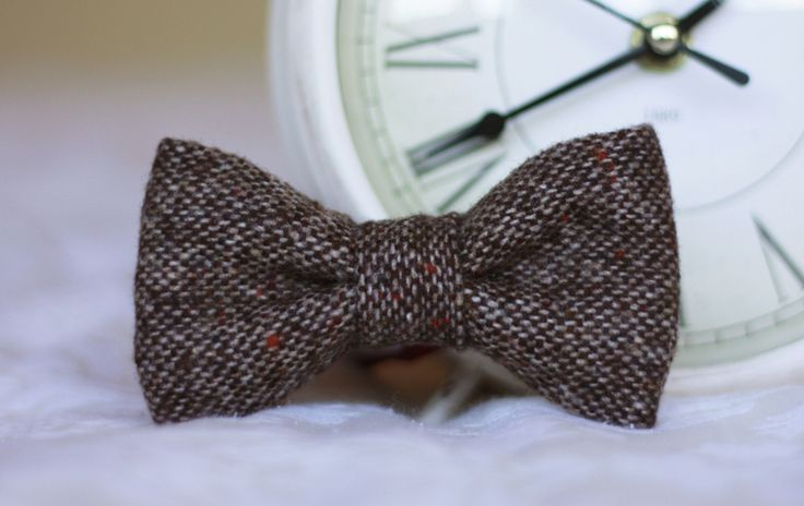 Mens Heritage Brown Wool Bow Tie w Bow & Tie London na DaWanda.com