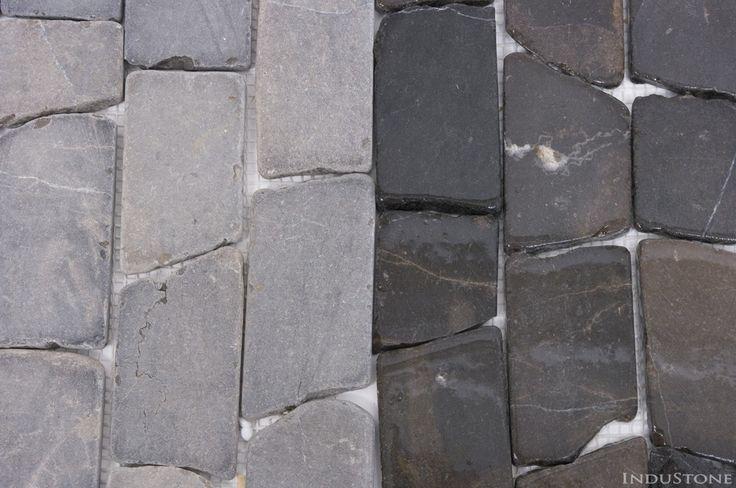 STRIPE 50 GREY szara kamienna mozaika na siatce INDUSTONE