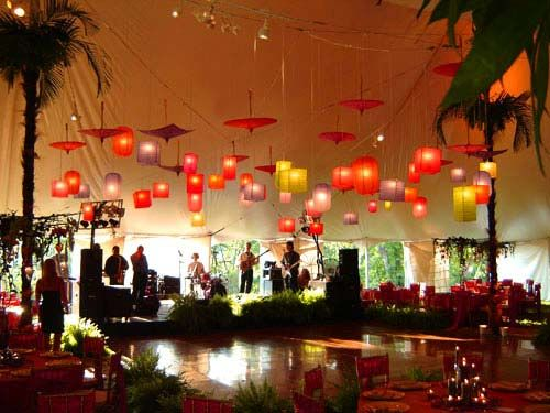 i am a sucker for asian lanterns and umbrellas- cool party idea